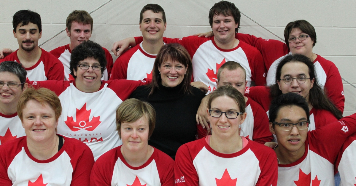 Sharon Bollenbach with Special Olympics Team Canada.