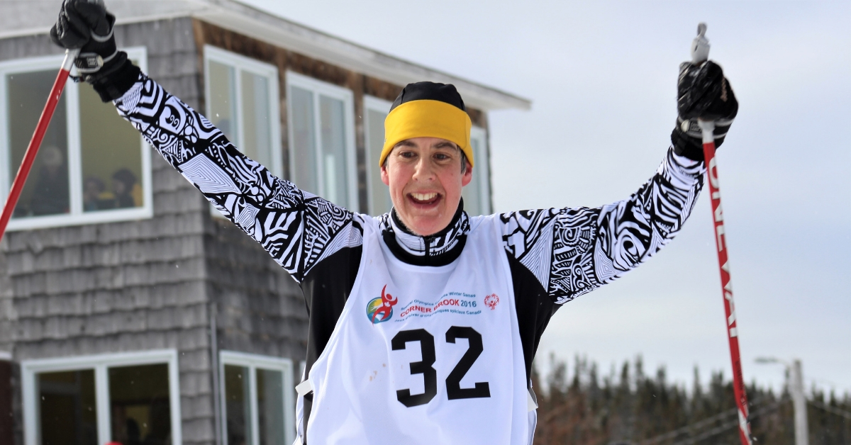 Brita Hall competes in cross-country skiing at the Special Olympics Canada Winter Games Cranbrook 2016.