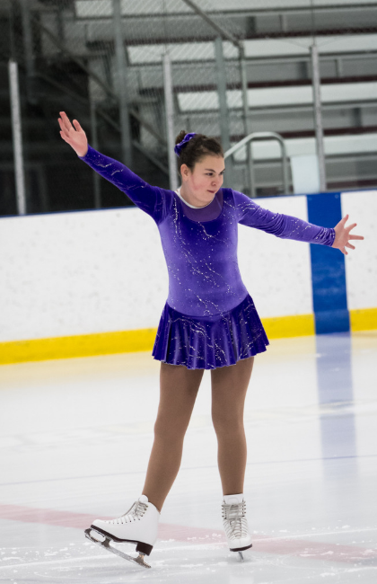 Emma Bittorf performs on the ice.