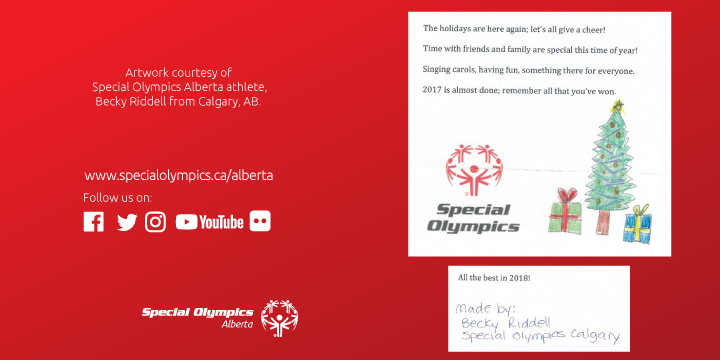 2017 Special Olympics Holiday Card