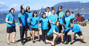 The Westminster Savings team ready to be freezin' for a reason at the 2019 Vancouver Polar Plunge. Photo by Tim Fitzgerald