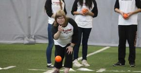 Students from Sturgeon High School compete at Edmonton Unified Bocce competition