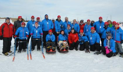 Athletes and Coaches ready for Snowshoeing