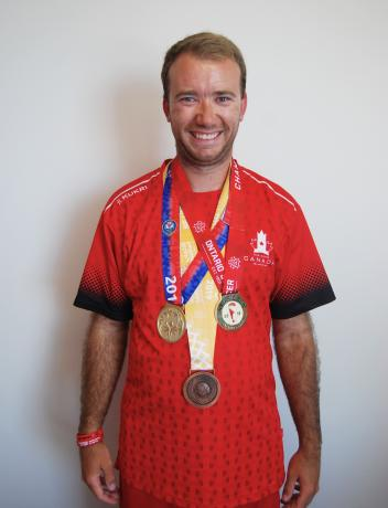 brandon and his medals