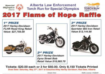 2017 Flame of Hope Harley Raffle