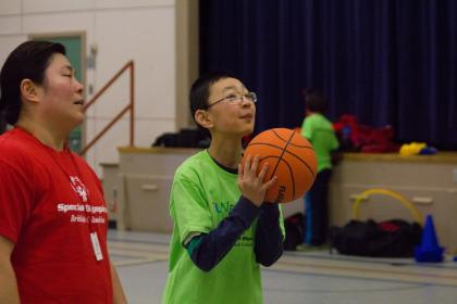 Special Olympics FUNdamentals athlete