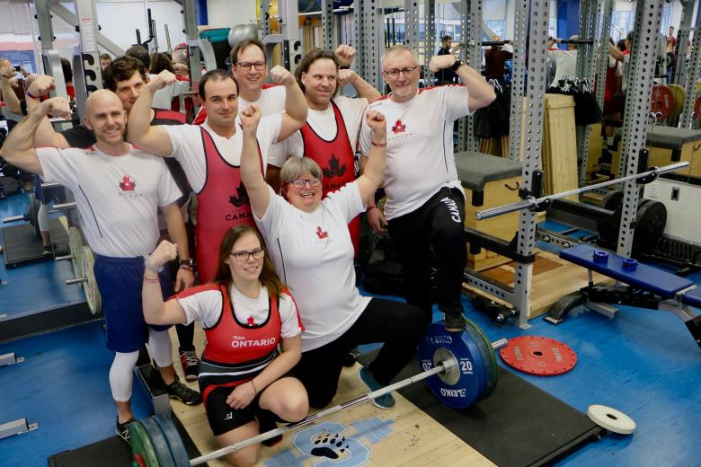 George Maclagan and the Special Olympics Team Canada 2019 powerlifting team