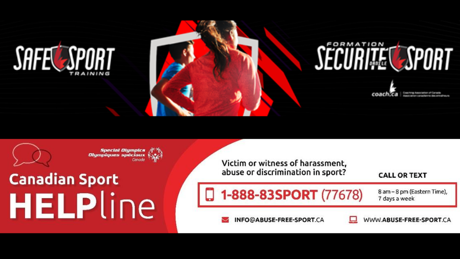 Sport Training and Canadian Sport Helpline banners