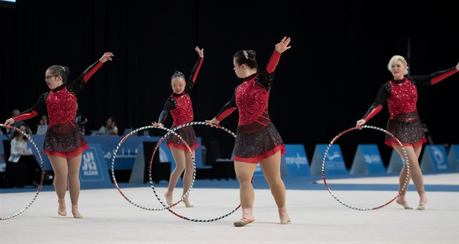 SO Team Canada's rhythmic gymnasts compete at World Games.
