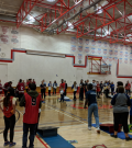 Unified Bean Bag Toss in Chestermere High School