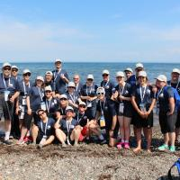 Team Alberta Swim at the Atlantic Ocean