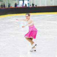 Stephanie Lachance on the ice