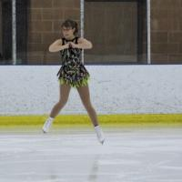 Nadia Bouillon performs on the ice