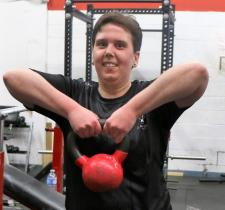 Lisa McDermott trains at the gym in the lead up to Special Olympics World Games.