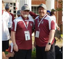 Glen and Jason Agnew pose for a photo at the Special Olympics Canada Summer Games in Antigonish 2018