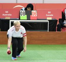 SO Team Canada bocce player Kerry Lane competes on the court at World Games.