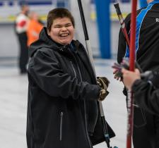 Special Olympics curler Theo Jack