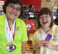 Special Olympics BC – Creston athletes Laila and Claire