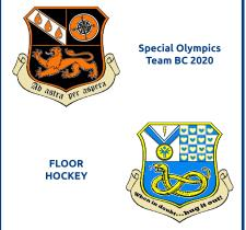 Coats of Arms designed by Special Olympics Team BC 2020's floor hockey teams