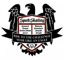 Special Olympics Team BC 2020 Speed Skating Coat of Arms