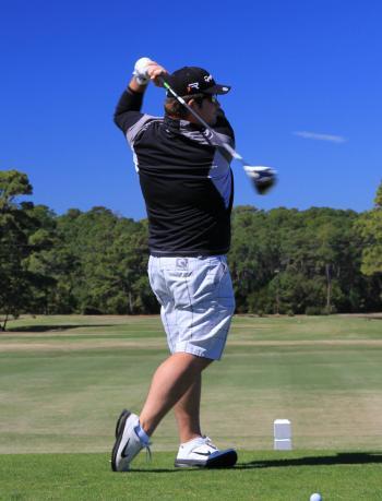 Josh Engel Golfing