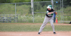 Brian McNab up to bat for Sobeys