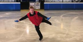 Special Olympics Ontario athlete Tim Goodacre skates on the ice.
