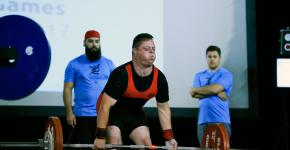 A Special Olympics Powerlifter performs a deadlift