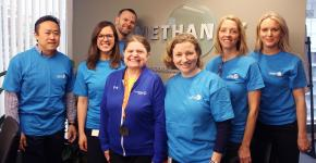 SOBC – Vancouver athlete Sheryl Spurr and Methanex Vancouver social responsibility committee staff members in 2019.