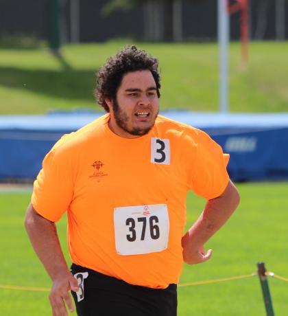 Team Alberta track athlete, Eli Bernard