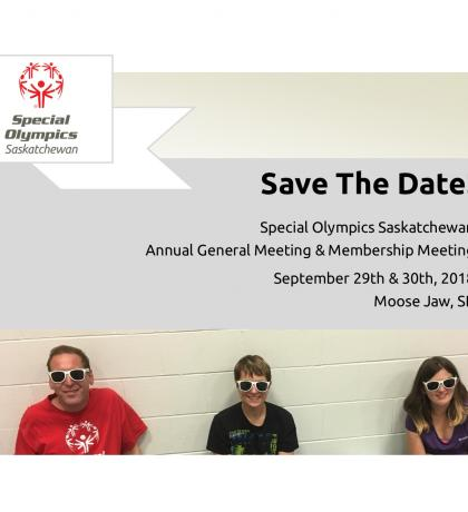 Special Olympics Saskatchewan Membership Meeting & Annual General Meeting 2018