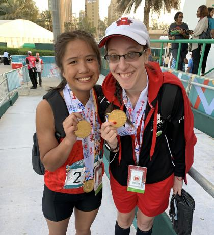 Special Olympics Team Canada athletics athletes Arianna and April