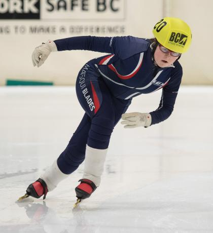 Special Olympics BC speed skater Paige Norton