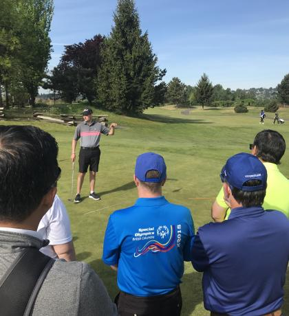 Special Olympics BC Golf Performance Camp