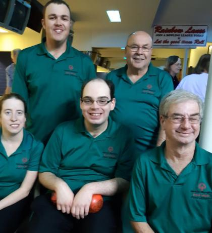 Special Olympics Team BC bowlers