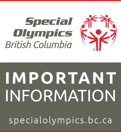 Important information from Special Olympics BC