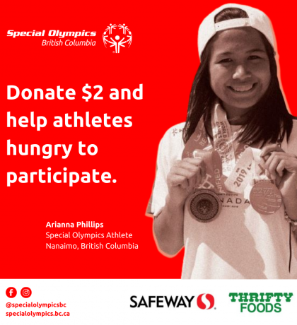 Sobeys fundraising campaign poster starring Arianna Phillips