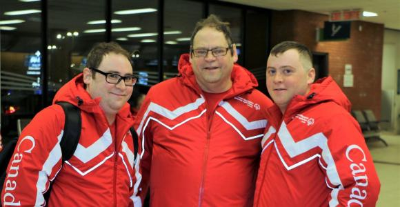 Tyler, Shane and Matthew in their Special Olympics Team Canada gear before the Special Olympics World Games Austria 2017.