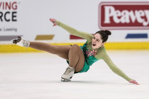Molly performs on the ice