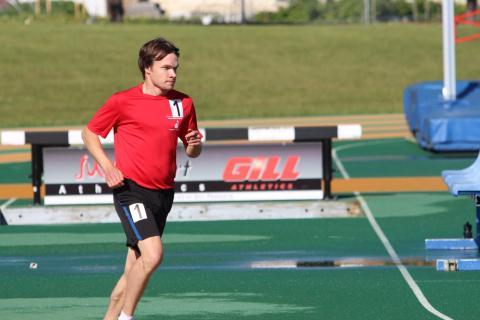 Team Alberta runner, Kieran Corrigan