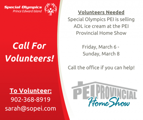 Special Olympics PEI, PEI Provincial Home Show, Master Promotions