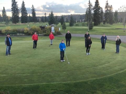 The SOBC - Prince George golf program put on their game faces for competition time.