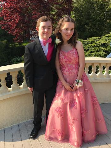 Patrick and his girlfriend Cassidy at prom