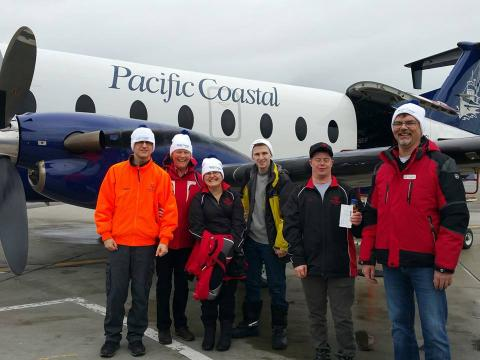 Special Olympics ski team flying Pacific Coastal Airlines