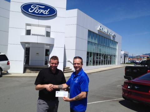 Chilliwack Ford's donation of $1,000
