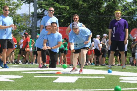 Fun and inclusion with the Westminster Savings squad at the 2019 motionball Marathon of Sport Vancouver.