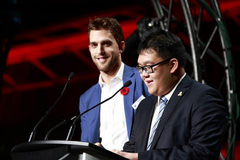 SCF 2017 ambassadors Brandon Sutter and Alex Pang
