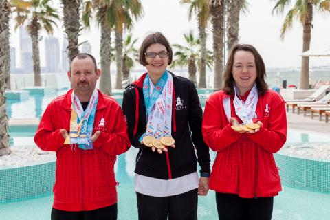 Special Olympics BC Team Canada swimmers