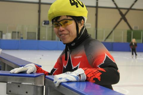 Special Olympics BC speed skater