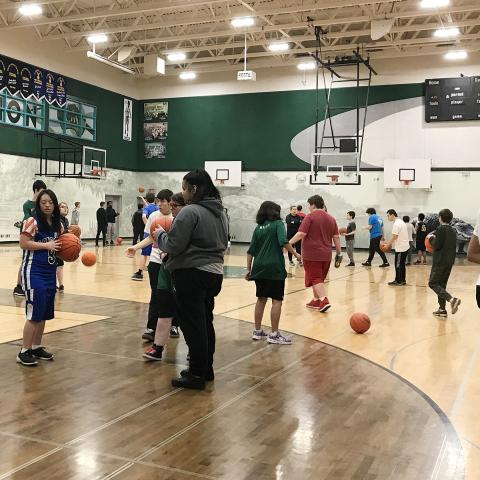 Special Olympics Youth Engagement Project basketball event in Langley